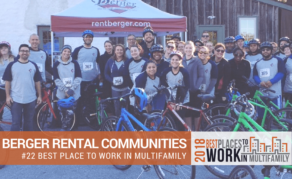 Berger Rental Communities Ranked #22 Nationally in the Best Places to Work Multifamily™