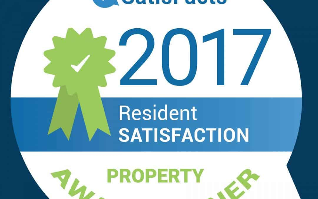 2017 Satisfacts Award Winning Communities