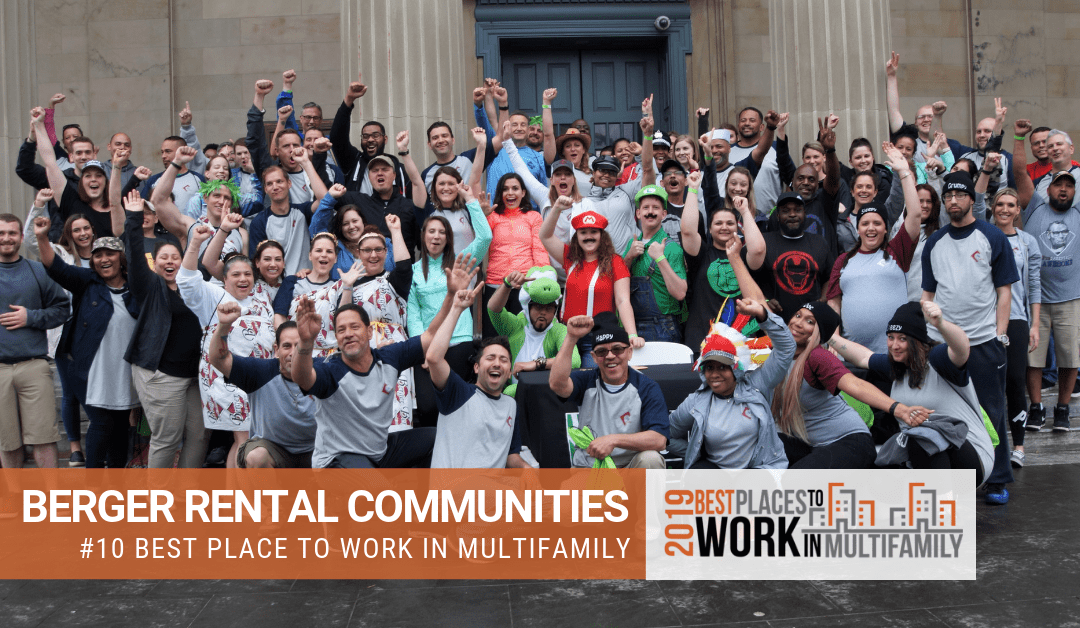 Berger Rental Communities Ranked #10 Nationally in the Best Places to Work Multifamily™