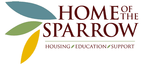 Home of the Sparrow Logo - Partner of Hope & Door