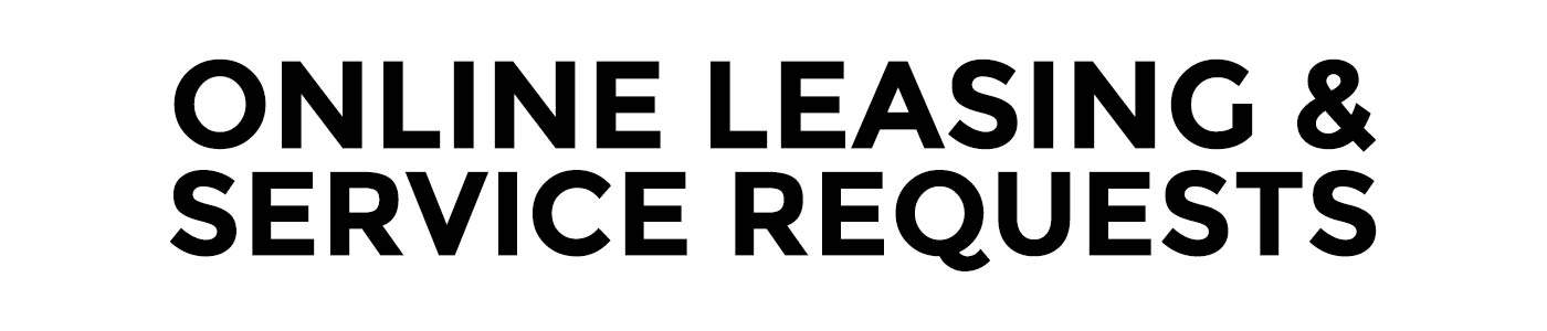 Online Leasing and Service Requests